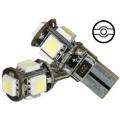 LED 12V BAX9S 2-SMD 3 chip Wit schuin CAN-BUS